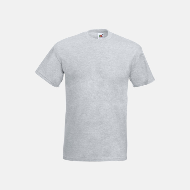 Heather Grey Kraftig t-shirt med reklamtryck