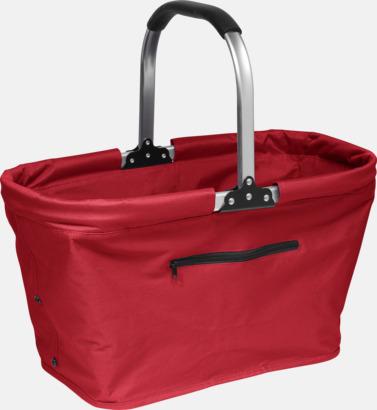 Röd Shopping- och picknickkorg med eget tryck
