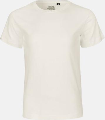 Natur Ekologiska t-shirts för barn av ekologisk bomull - med tryck