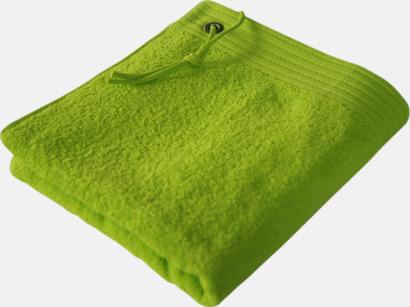 Lime Handdukar med metallögla och snöre - med brodyr
