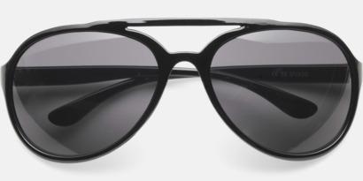 Svart Solglasögon med reklmtryck
