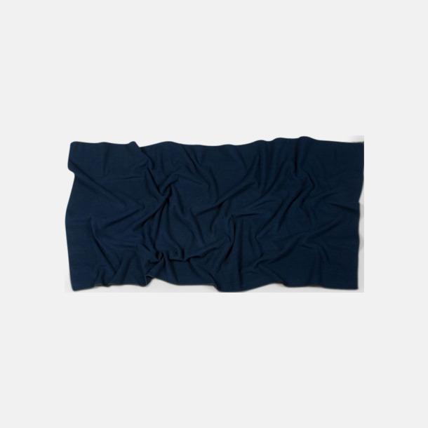 Marinblå (70 x 140 cm) Microfiber handdukar i 3 storlekar med reklambrodyr