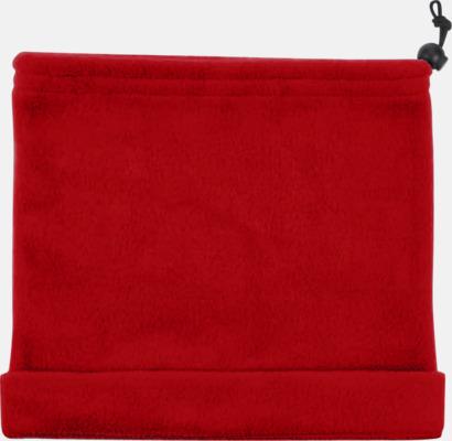 Röd Halsdukar med brodyr