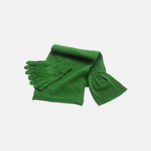 Set med mössa, vantar och halsduk med reklambrodyr