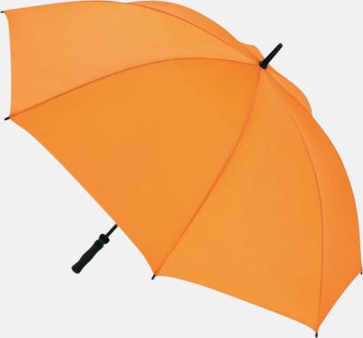 Orange Golfparaplyer med eget tryck