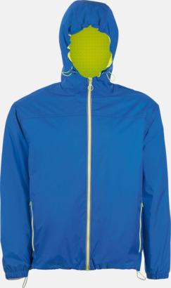 Royal Blue/Neon Gold Vind- och vattentäta jackor med reklamtryck