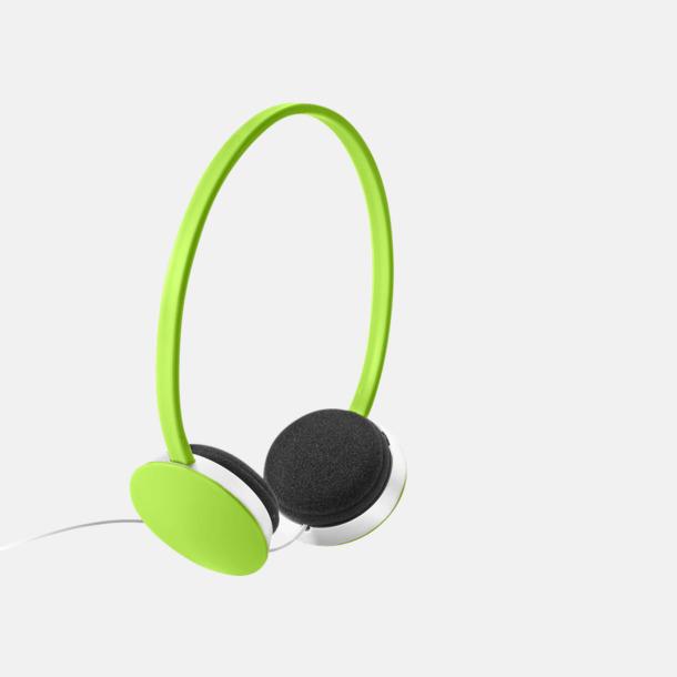 Limegrön On-ear hörlurar i många färger - med tryck