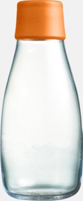 Orange Mindre vattenflaskor av glas med reklamtryck