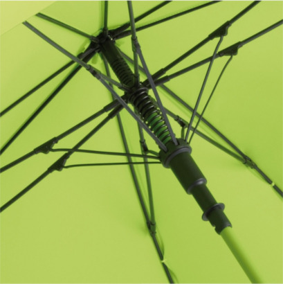 Fyrkantiga paraplyer med färgade skaft - med reklamtryck
