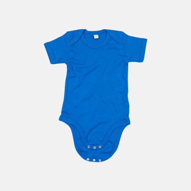Cobalt Blue (endast kort) Ekologiska bodysuits med korta eller långa ärmar - med reklamtryck