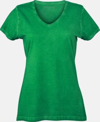 Fern Green (dam) Trendiga v-neck t-shirts i herr- och dammodell med reklamtryck