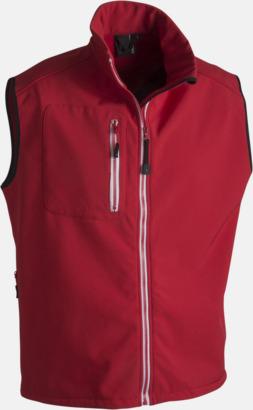 Röd (herr) Body Warmer Jacka med eget reklamtryck eller brodyr.