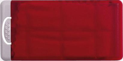 Röd Putsdukar i askar med reklamtryck