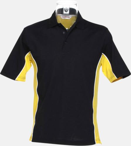 Marinblå/Mid Yellow/Vit Sportiga pikétröjor med reklamtryck eller -brodyr