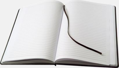 Anteckningsblock A4-format av konstläder med reklamlogo