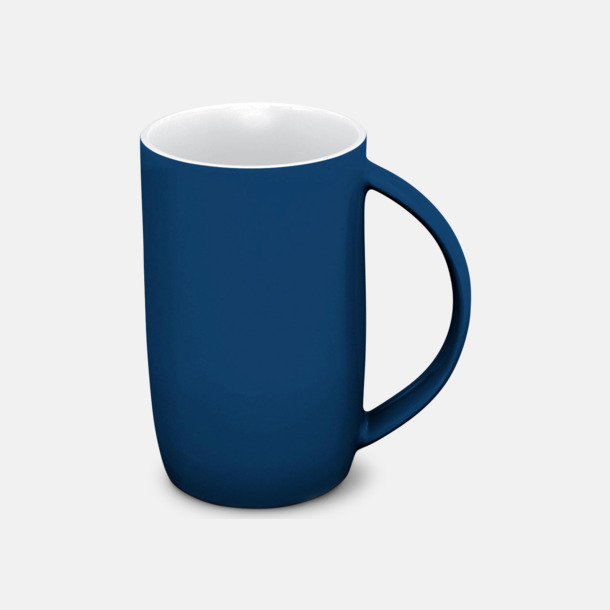 Marinblå/vit Porslinsmuggar med eget tryck