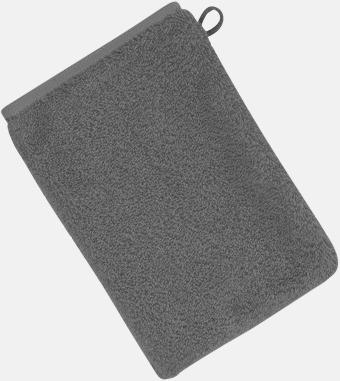 Mörkgrå (22 x 16 cm) Mjuka bomullshanddukar i 5 storlekar med reklambrodyr