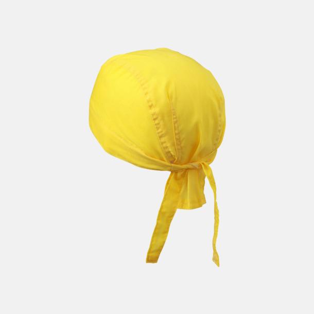 Sun Yellow (hatt) Bandanas i två varianter med reklambrodyr