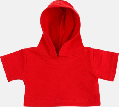 Röd (bomull) Små huvtröjor för gosedjur - med reklamtryck
