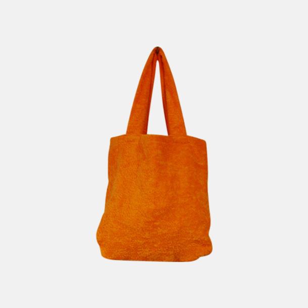 """Sunny Orange Bomullsväskor av """"handduksfrotté"""" med bordyr"""