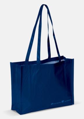 Blå Miljökasse av återvunnet material med reklamtryck