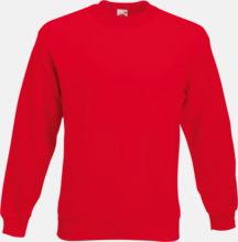 Klassisk sweatshirt med reklamtryck