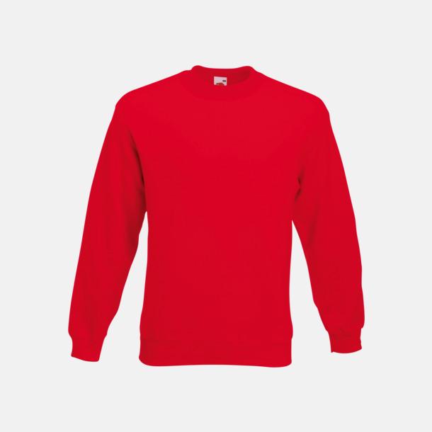 Röd Klassisk sweatshirt med reklamtryck
