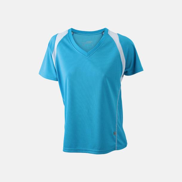 Turkos/Vit Flerfärgade funktionströjor med eget tryck