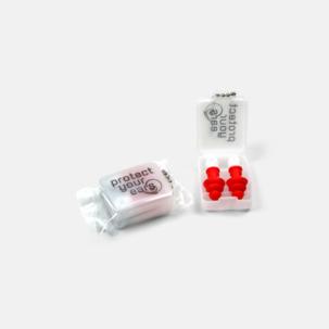 Öronproppar i plastask med tryck