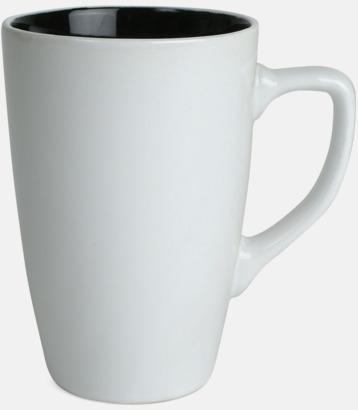 Vit/Svart Kaffemuggar med färgad insida