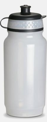 Transparent Fin gymflaska med eget tryck