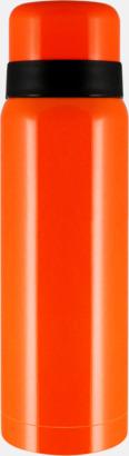 Orange Billiga termosar med gravyr