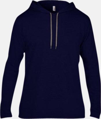 Marinblå (herr) Billiga herr- och damtröjor med reklamtryck