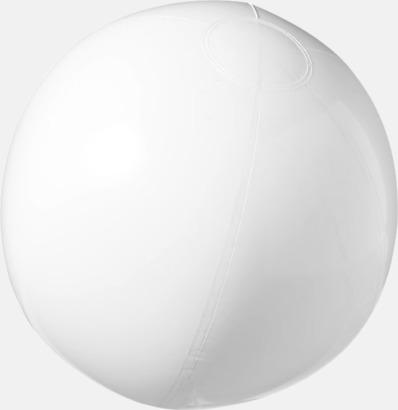 Vit (solid) Badbollar i solida och transparenta färger med reklamtryck