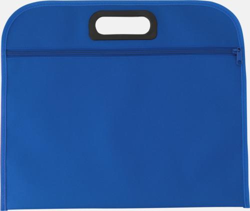 Blå Billiga dokumentfodral i många färger - med reklamtryck