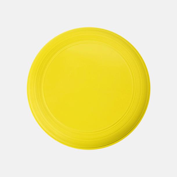Gul Sportiga frisbees i många färger med reklamtryck