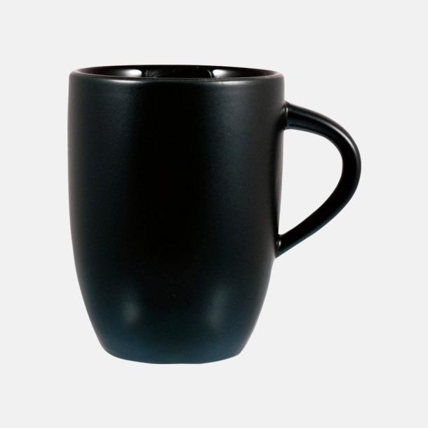 Svart Snygga kaffemuggar med reklamtryck