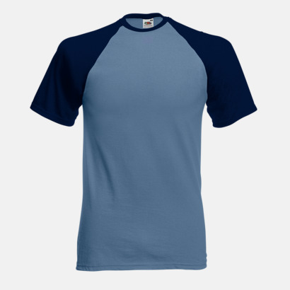 Steel Blue/Deep Navy T-shirtar med reklamtryck
