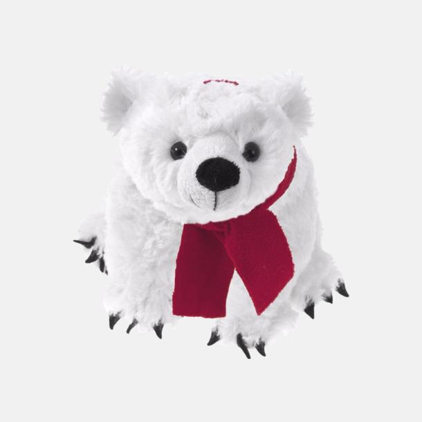 Vit isbjörn (20 cm) Gosedjur med reklamtryckta halsdukar