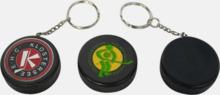Små hockeypuckar till nyckelringen med tryck