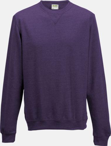 Purple Heather (unisex) Heather tröjor i unisex- och dammodell med reklamtryck