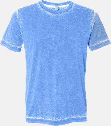 True Royal Acid Wash (heather) Unisex t-shirts i spräckliga färger med reklamtryck