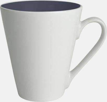 Marinblå / Vit Kaffemuggar med färgad insida