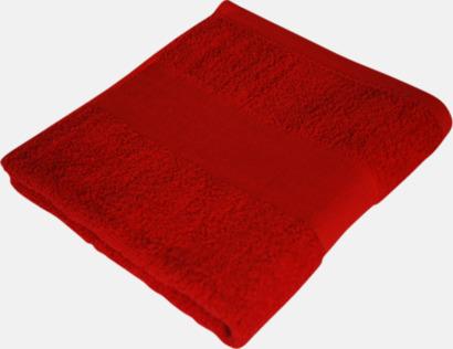 Paprika Red Prisvärda handdukar i flera storlekar med brodyr