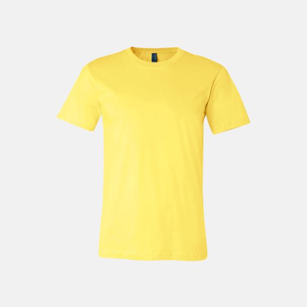 Gul T-shirts för herr och dam - med reklamtryck