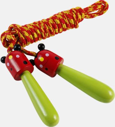 Röd/Limegrön Hopprep för barn med djurmotiv