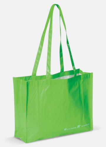 Grön Miljökasse av återvunnet material med reklamtryck