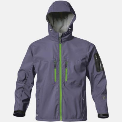 Nightshadow/Treetop Green (herr) Riktigt fina soft shell jackor med reklamtryck