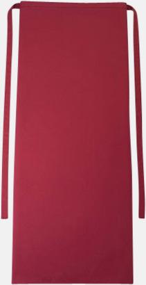 Cherry Långa förkläden i många färger med reklamtryck