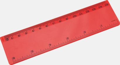Röd Billiga linjaler med reklamtryck